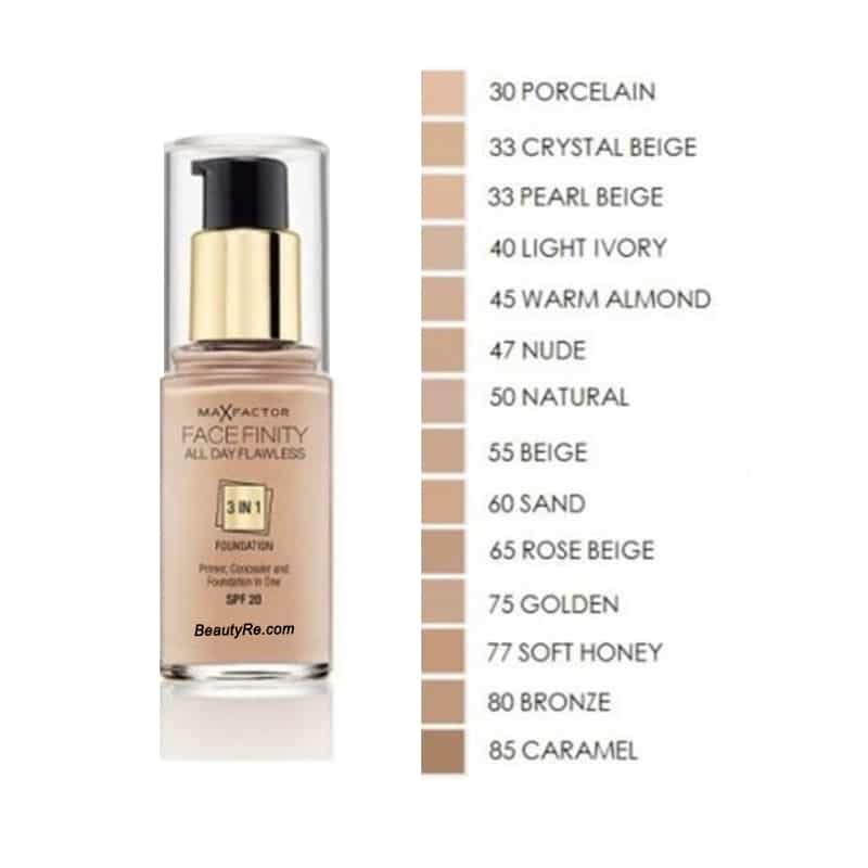 Max Factor X Face Finity 3 in 1 Foundation, 30 ml